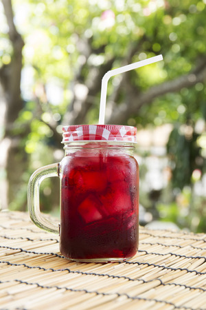 Refreshments: Iced roselle juice  Thai drink for refreshment