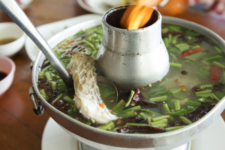 sour grass: Fish tom yum soup  hot and sour soup