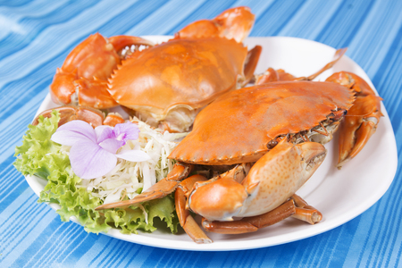 restuarant: Hot Steam Big Crab in seafood restuarant of Thailand