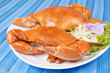 restuarant: Hot Steam Big Crab in seafood restuarant of Thailand