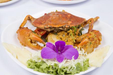 curry powder: Stir Fried Crab with yellow curry powder