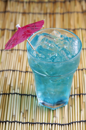 daiquiri alcohol: Blue Italian Soda drink  refresh for drink Stock Photo
