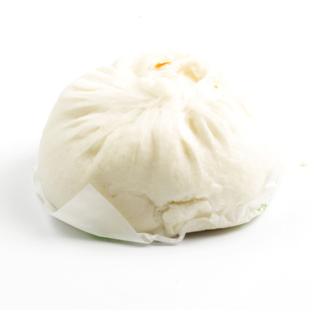 Chinese steamed bun / closed on the white background