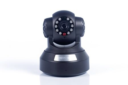 CCTV security camera on the white background