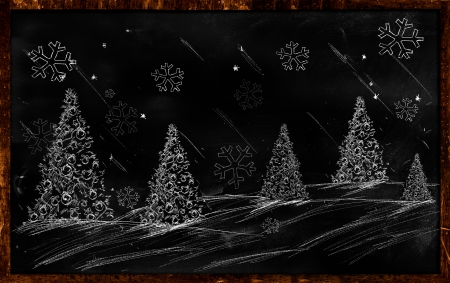 Winter Christmas Drawing Stock Photo - 24497960