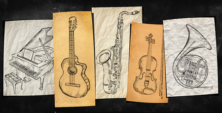 Art Instruments music background photo