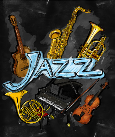 Jazz Painting Instrument - Musical Background photo