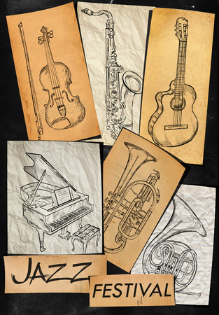 Jazz Festival Music Instrument Background photo