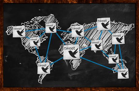世界のつぶやき黒板に接続