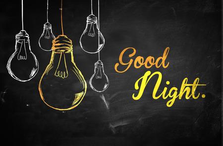 Good Night Ampoules Contexte Banque d'images - 28130816