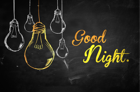 Good Night Bulbs Background Stock Photo