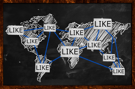 World Like Connection on Blackboard photo