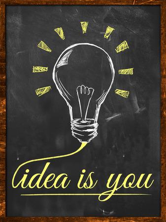 Idea is you wallpaper blackboard photo