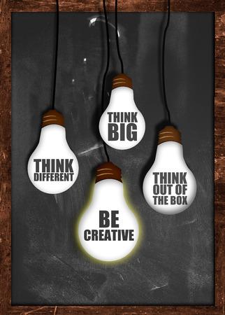 Think big , be creative photo