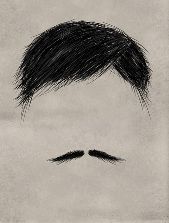 black barber: Hair and Thin mustache