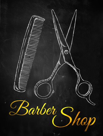 Barber shop Scissors comb photo