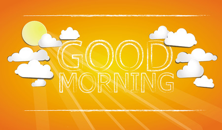 good day: Good Morning on the sky