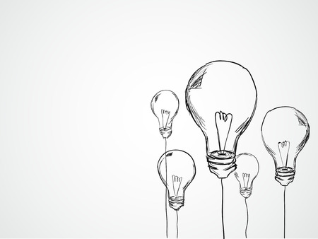 innovator: Bulbs Sketch Vector