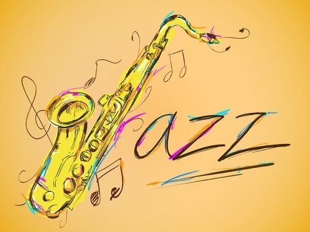 Jazz Vector Art Illusztráció