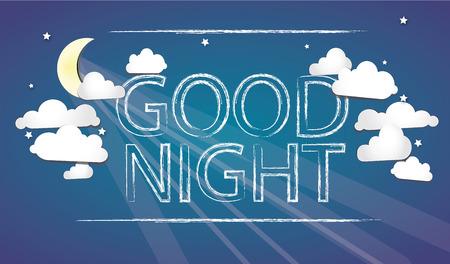 good night: Buenas noches en el cielo