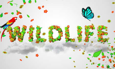 particles: Wildlife leaves particles 3D Stock Photo