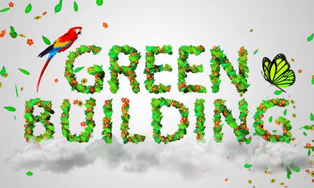 bioedilizia: Green Building lascia particelle 3D