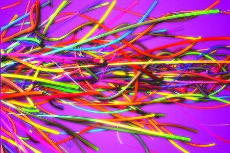 vj: Sfondo Arcobaleno fili Linea Glow Viola