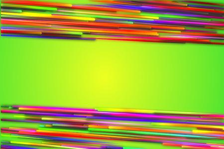 vj: Orizzontale Sopra Sotto Arcobaleno Linea Retta Glow sfondo verde