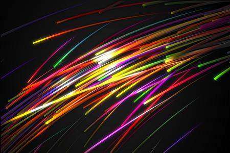 虹ストレート斜めライン グロー暗い背景