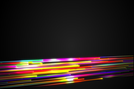 vj: Bottom Rainbow straight Diagonal Line Glow Dark Background