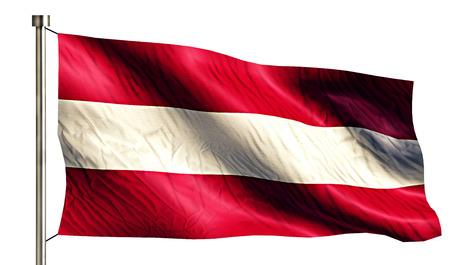 Austria National Flag Isolated 3D White Background photo