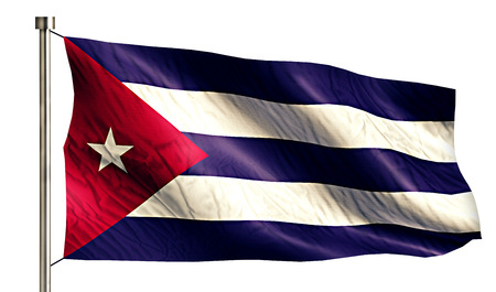 anthem: Cuba National Flag Isolated 3D White Background