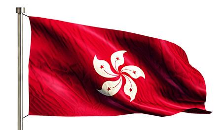 anthem: Hongkong National Flag Isolated 3D White Background