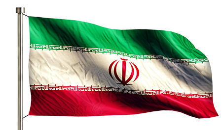 intro: Iran National Flag Isolated 3D White Background