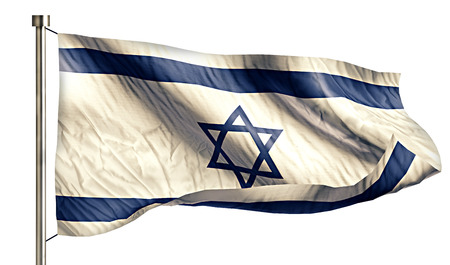 intro: Israel National Flag Isolated 3D White Background