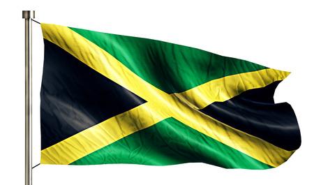 Jamaica National Flag Isolated 3D White Background photo