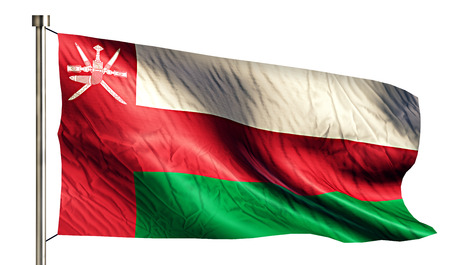 oman background: Oman National Flag Isolated 3D White Background Stock Photo
