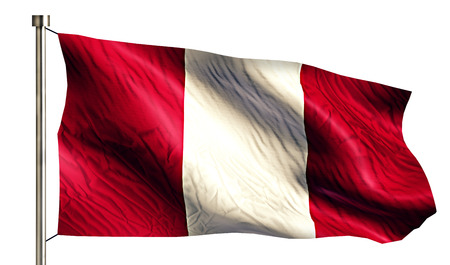 anthem: Peru National Flag Isolated 3D White Background Stock Photo