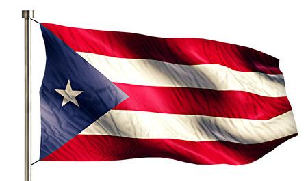 anthem: Puerto Rico National Flag Isolated 3D White Background