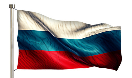 anthem: Russia National Flag Isolated 3D White Background Stock Photo