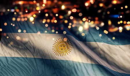 アルゼンチン国旗光夜ボケ抽象的な背景