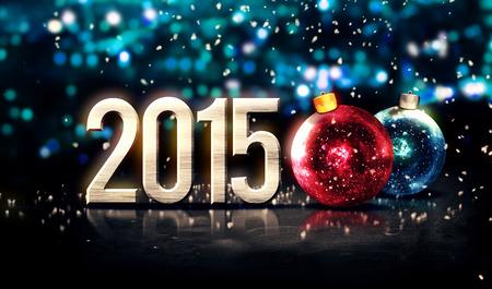 2015 つまらないシルバー ブルーの美しいボケ味冬の 3 D