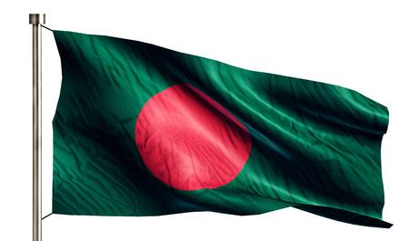 anthem: Bangladesh National Flag Isolated 3D White Background