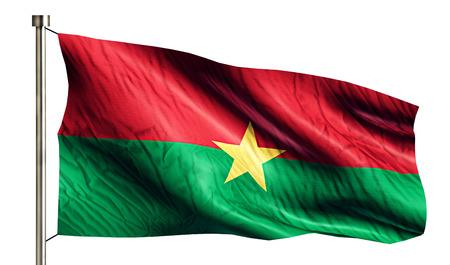 burkina faso: Burkina Faso National Flag Isolated 3D White Background