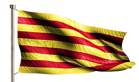 anthem: Catalonia National Flag Isolated 3D White Background