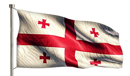 flagged: Georgia National Flag Isolated 3D White Background