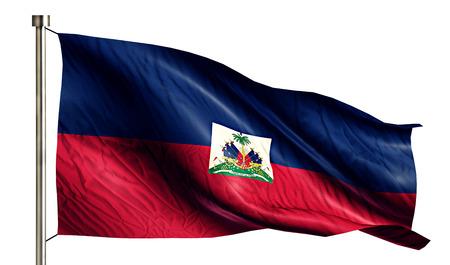 anthem: Haiti National Flag Isolated 3D White Background
