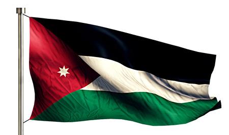 anthem: Jordan National Flag Isolated 3D White Background