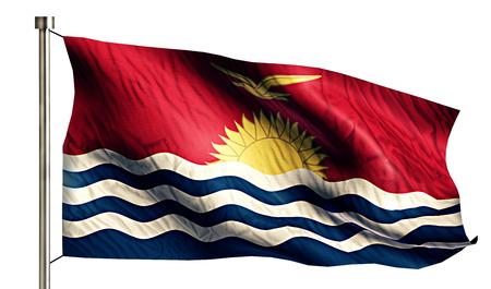 anthem: Kiribati National Flag Isolated 3D White Background