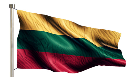 anthem: Lithuania National Flag Isolated 3D White Background